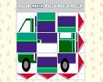 トラックのスライドパズル