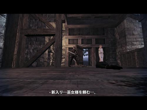 マビノギ英雄伝_プロローグムービー 新入り…巫女様を頼む…。