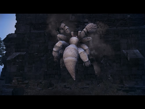 マビノギ英雄伝_鐘塔の壁を登るスパイダー