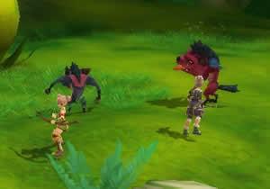 エターナルブレイド_協力してモンスターと戦うプレイヤー