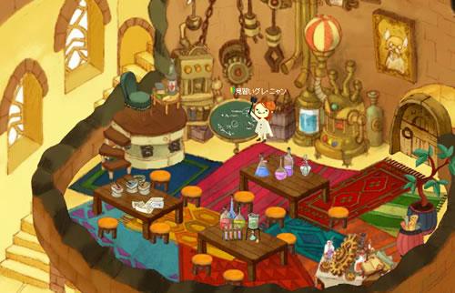 魔法学校アヴァロン_雷の塔の教室で先生ぽいことして遊ぶぐれにゃん