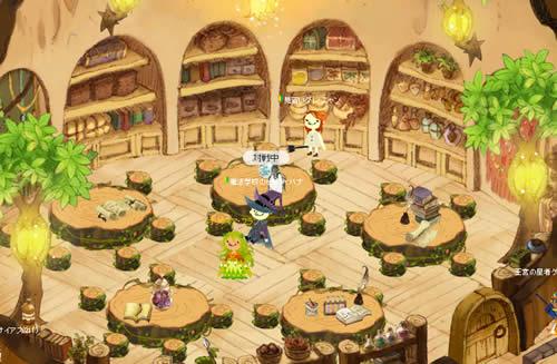 魔法学校アヴァロン_地の塔の教室でみんなの授業を見守るぐれにゃん