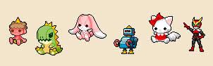 チビクエストモンスターズ_キャラクター選択(おもちゃ)