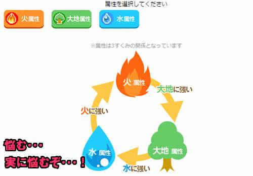 チビコネクト_キャラクター作成、属性選択