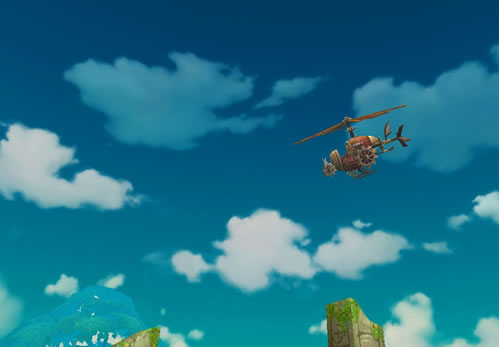 ハンターヒーロー_謎のヘリコプター(?)