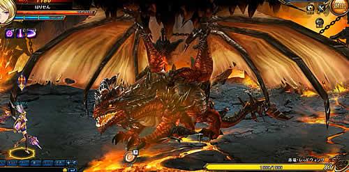 ブレイドラッシュ_レッドドラゴン攻撃チャンス!
